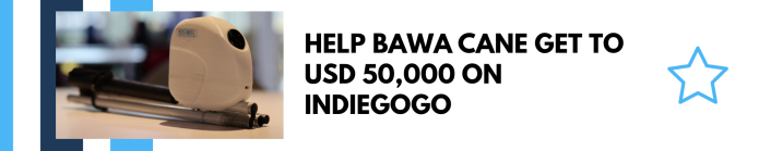 Help BAWA Cane reach USD50,000 on Indiegogo