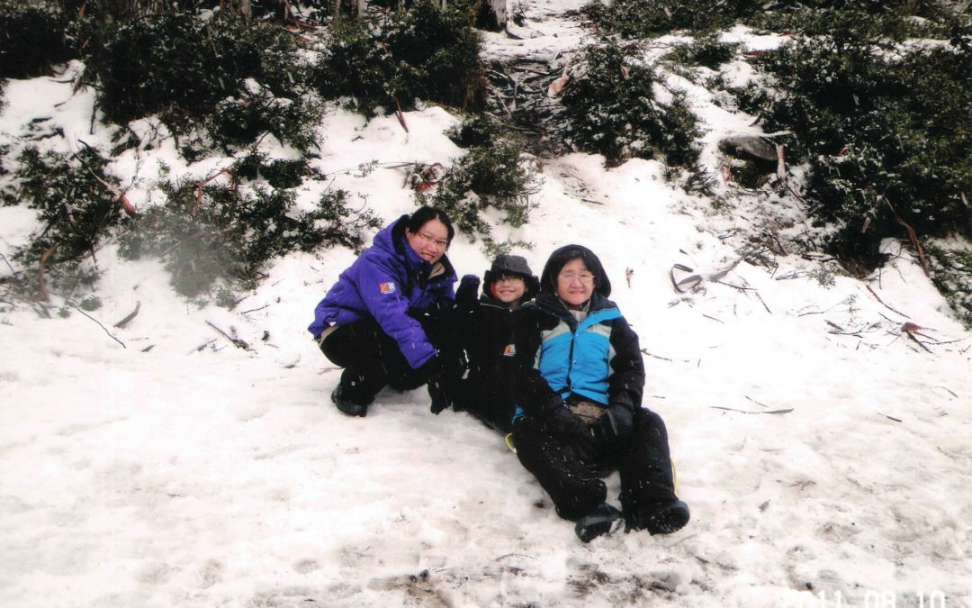 BAWA Cane blog: Stella, Joel and our Grandma at Mt Buller, Australia.