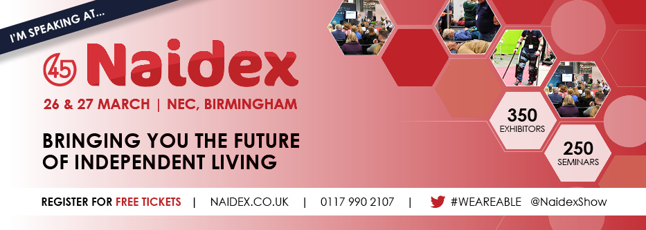 Speaking at 45th Naidex on Assistive Technology