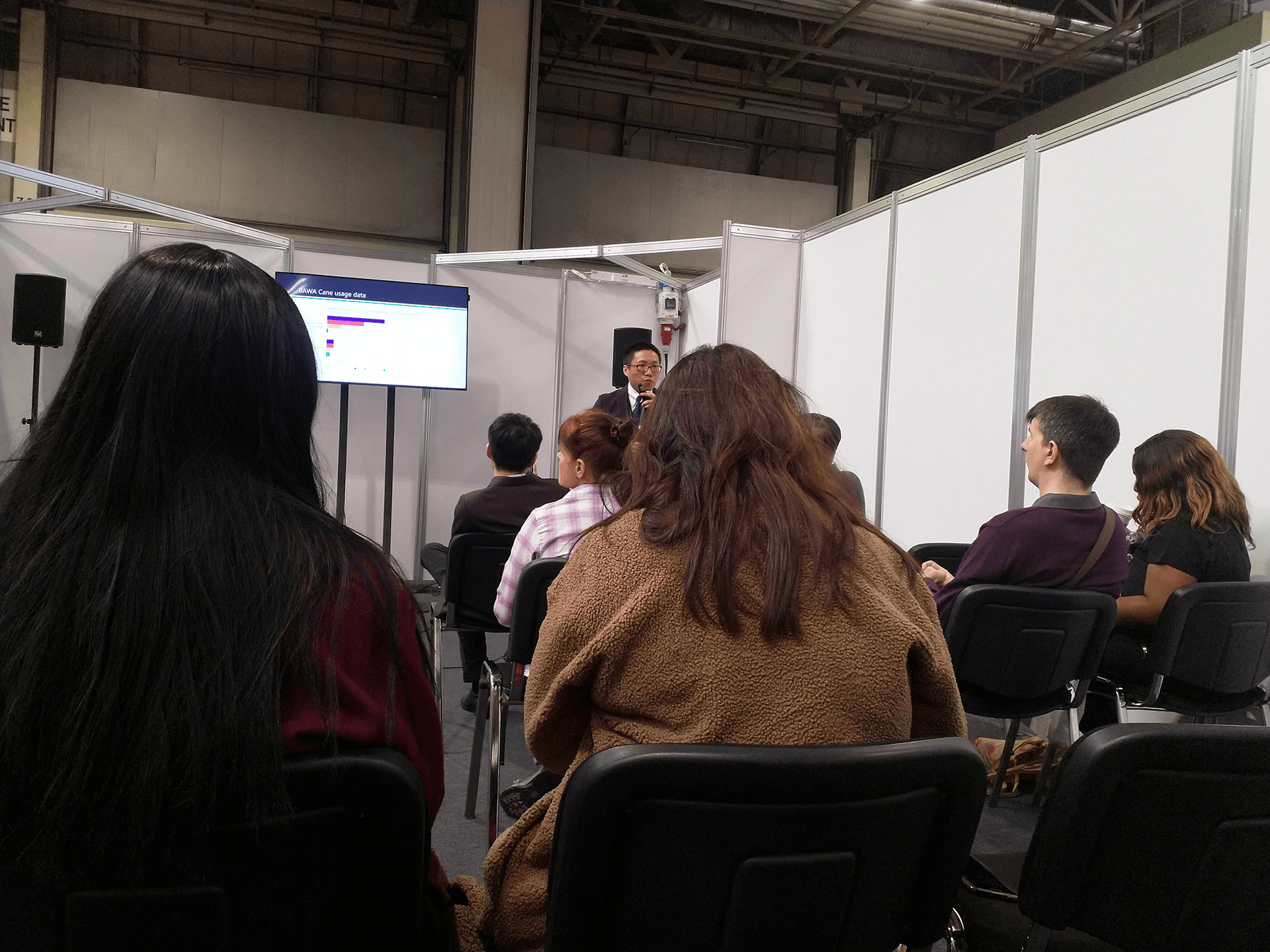 "BAWA Cane blog: Daniel Vong spoke at 45th Naidex on ""How Data Analytics Impact Blind Lives"""